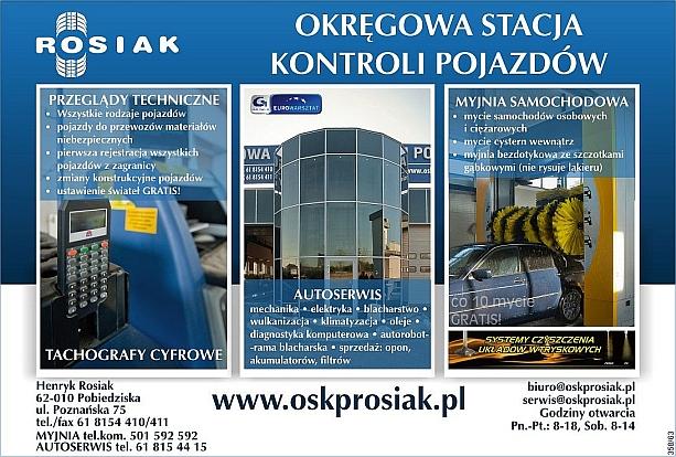 Okręgowa Stacja Kontroli Pojazdów Henryk Rosiak Pobiedziska Poznań Gniezno Swarzędz